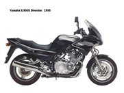 Pillion step left  Yamaha XJ 900 S Diversion