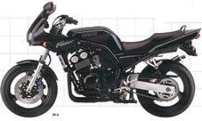 Pillion step right Yamaha FAZER 600