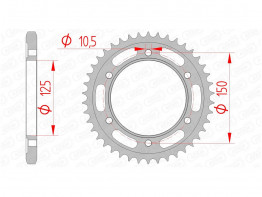 Rear sprocket KTM 1290 Super Adventure