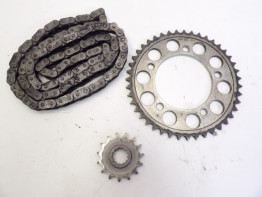 Chain and sprocket kit Honda CBR 600 F