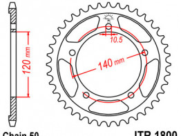 Rear sprocket Triumph Tiger 1050