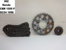 Chain and sprocket kit Honda CBR 1000