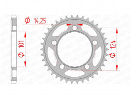 Rear sprocket KTM 990 SM + SMT